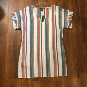 NWT Chelsea & Theodore striped linen dress